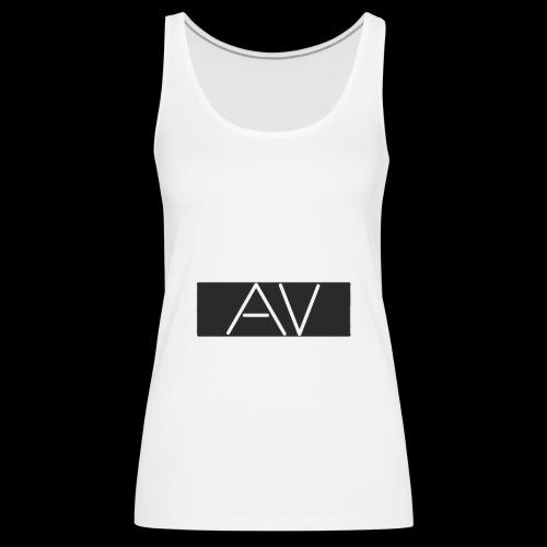 AV White - Women's Premium Tank Top