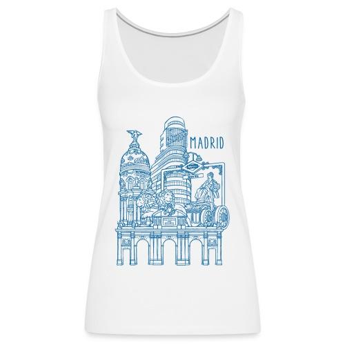 MADRID COLLAGE AZUL - Camiseta de tirantes premium mujer
