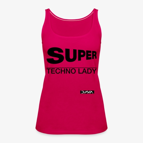 Techno Lady - black - Women's Premium Tank Top