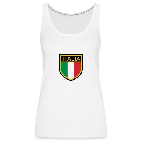 SCUDETTO ITALIA CALCIO - Canotta premium da donna