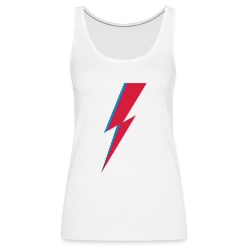 Blitz, Musik, Bowie, heroes, blackstar, rebel - Frauen Premium Tank Top