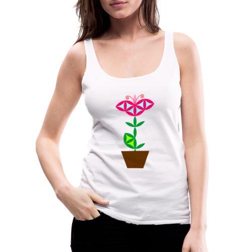 The Flower Of Life - Sacred Plants. - Women's Premium Tank Top