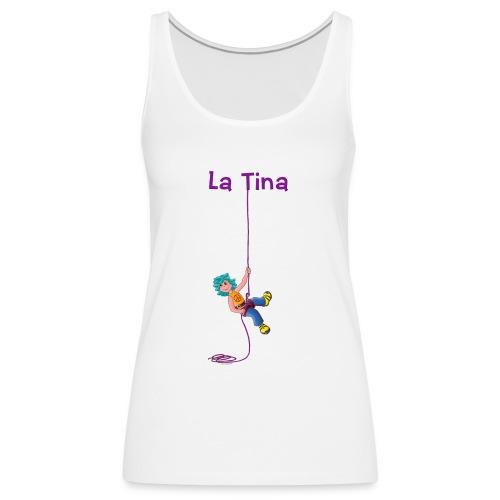La Tina rapelant - Camiseta de tirantes premium mujer