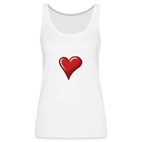 Love (coeur) - Débardeur Premium Femme