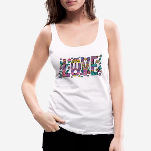 love peace hippie style - Frauen Premium Tank Top