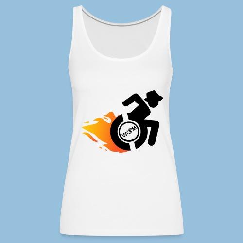Roller met vlammen 014 - Vrouwen Premium tank top