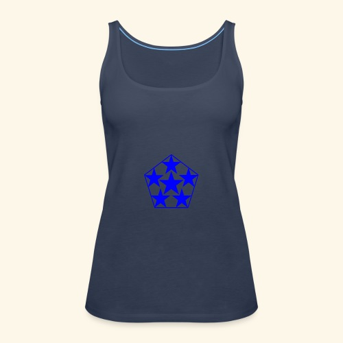 5 STAR Sterne blau - Frauen Premium Tank Top