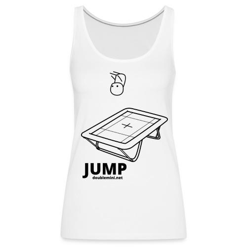 Trampoline JUMP shirt white - Women's Premium Tank Top