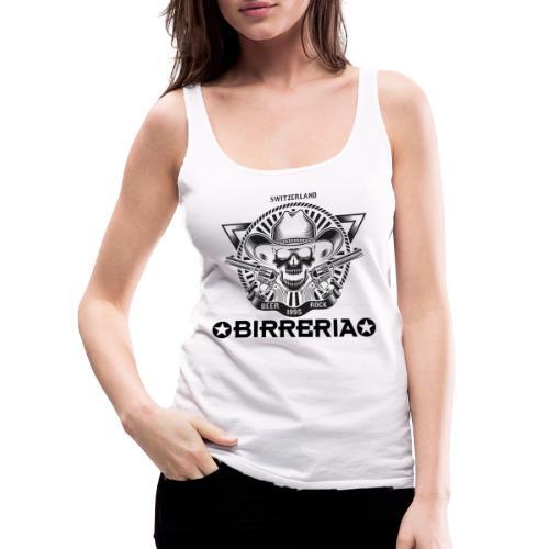 Sheriff Skull with Revolver - Frauen Premium Tank Top