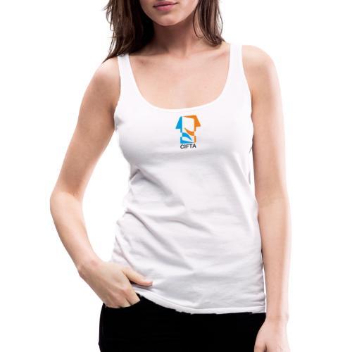 Logo CIFTA letra negro - Camiseta de tirantes premium mujer