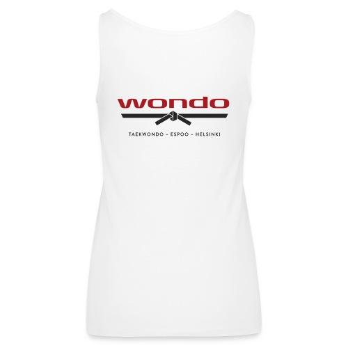 Wondo värillinen logo - Naisten premium hihaton toppi