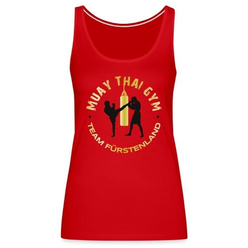 Logo MUAY THAI GYM Team Fuerstenland gold schwarz - Frauen Premium Tank Top