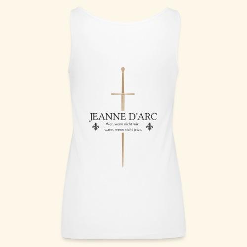 Jeanne d arc dark - Frauen Premium Tank Top