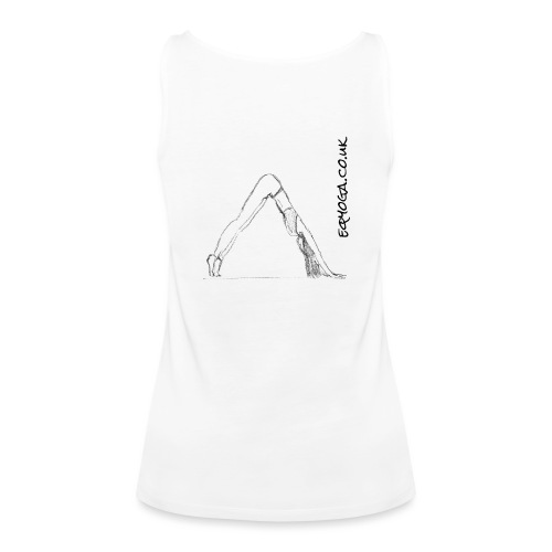 Downward Dog Yoga Sketch - Women's Premium Tank Top