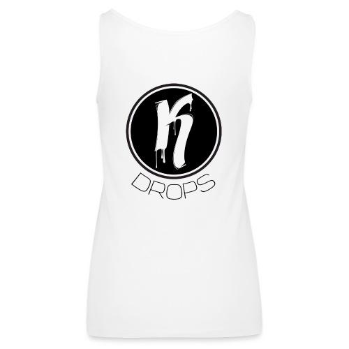 KDrops Black Logo - Women's Premium Tank Top