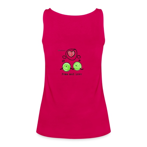 Peas and love with logo Transparent - Premium singlet for kvinner