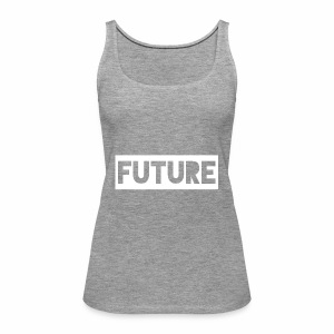 Future Clothing - Text Rectangle (White) - Women's Premium Tank Top