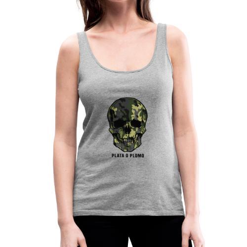 Colombian skull - plata o plomo - Frauen Premium Tank Top