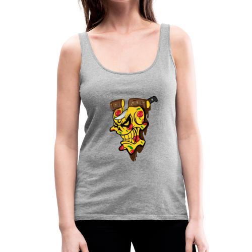 Pizza Schädel mit Messer - Frauen Premium Tank Top