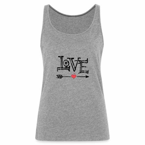 Love flêche - Débardeur Premium Femme