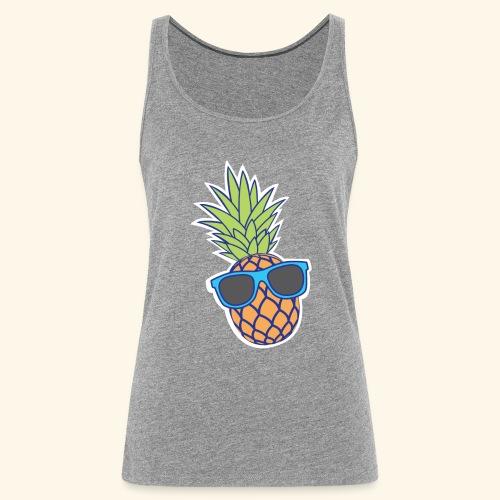 ananas met zonnebril - Vrouwen Premium tank top