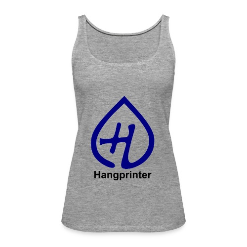 Hangprinter logo and text - Premiumtanktopp dam