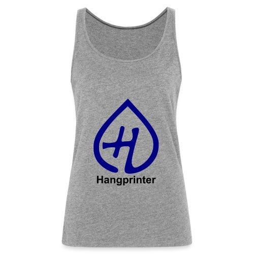 Hangprinter logo and text - Premiumtanktopp dam
