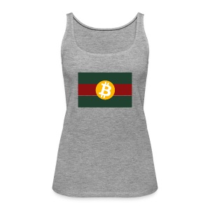 Bitcoin Logo Greed Red Flag - Frauen Premium Tank Top