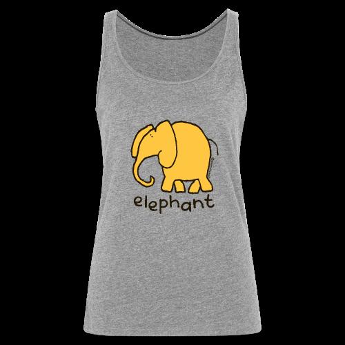 'elephant' - Bang on the door - Women's Premium Tank Top