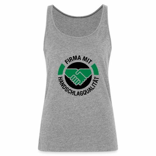 Handschlagqualität Logo schwarz - Frauen Premium Tank Top