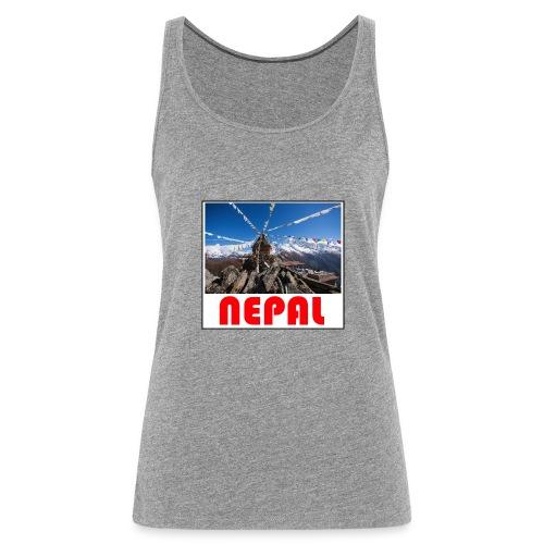 Nepal T-shirt - Women's Premium Tank Top