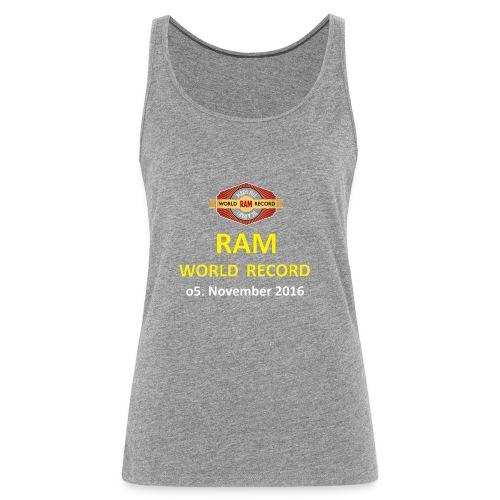 RWR gelb mit Datum (weiß) - Frauen Premium Tank Top