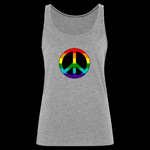 Gay pride peace symbool in regenboog kleuren - Vrouwen Premium tank top