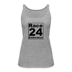 Race24 logo in black - Women's Premium Tank Top