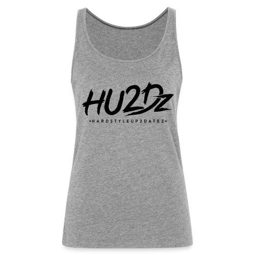 HU2Dz Logo Zwart - Vrouwen Premium tank top