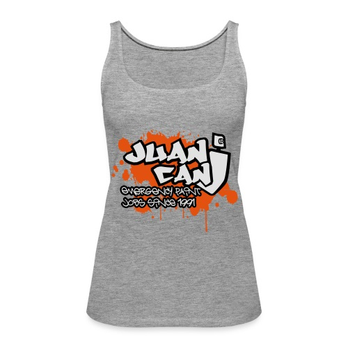Juan can logo for spreadshirt Orange - Women's Premium Tank Top