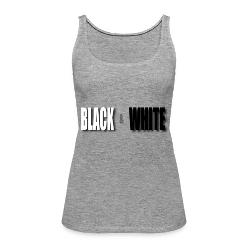 Black and White - Frauen Premium Tank Top
