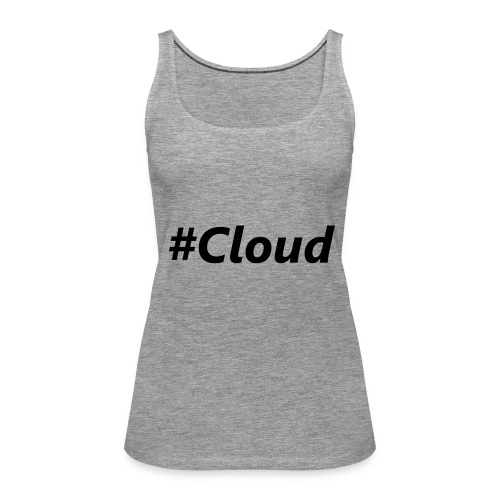 #Cloud black - Frauen Premium Tank Top