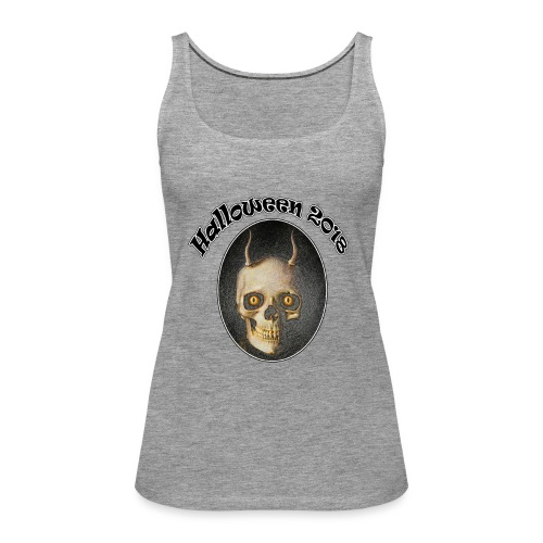 Halloween 2018 Horned Devil Skull - Women's Premium Tank Top