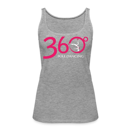 360 Pole Logo w White Writing - Women's Premium Tank Top
