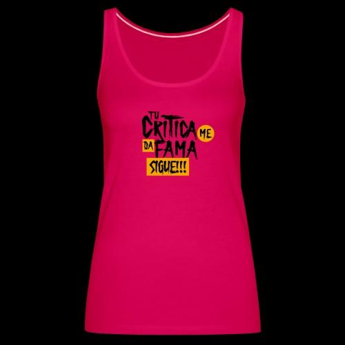 CRITICA - Camiseta de tirantes premium mujer