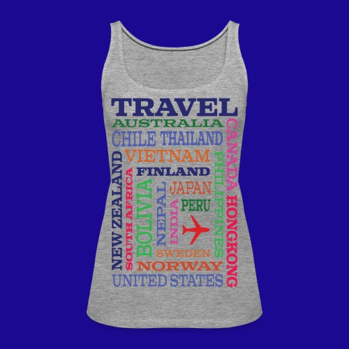 Travel Places design - Naisten premium hihaton toppi