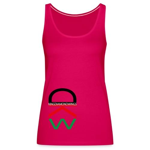 King Diamond Wings Colored Logo - Women's Premium Tank Top