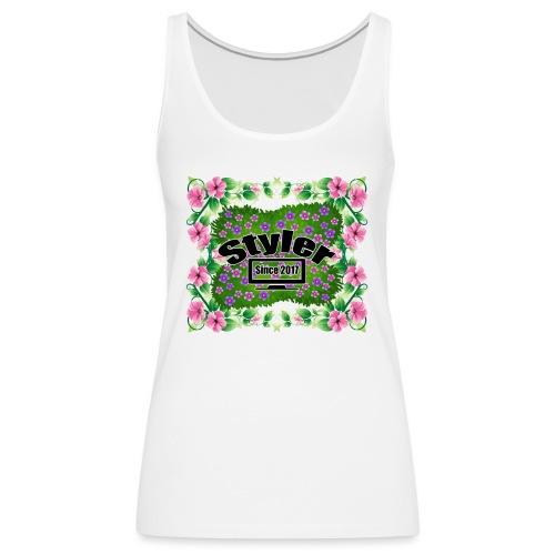 Styler Bloemen Design - Vrouwen Premium tank top