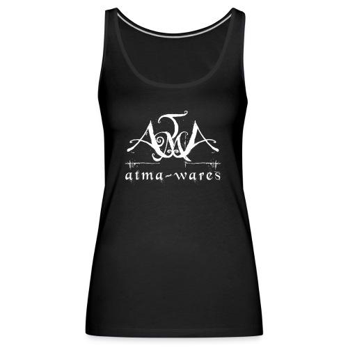 atma wares logo white - Vrouwen Premium tank top