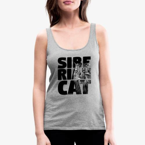 Siberian Cat Black - Naisten premium hihaton toppi