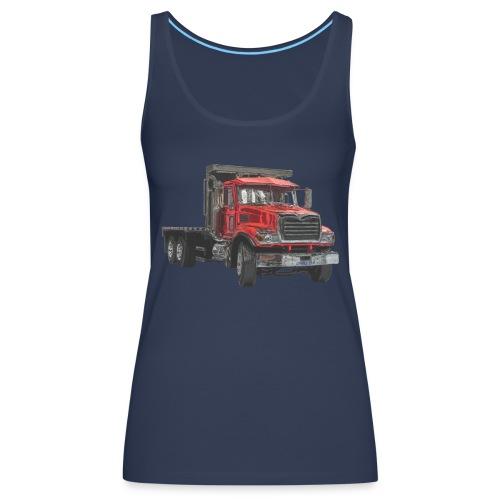 Flat Truck 3-axle - Red - Women's Premium Tank Top