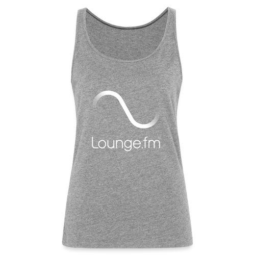loungefm logo weiss - Frauen Premium Tank Top