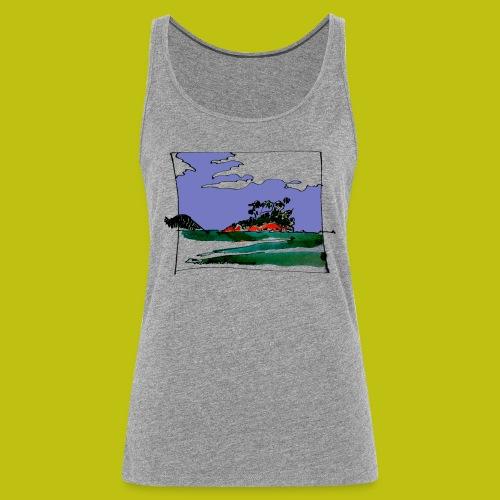 isla - Camiseta de tirantes premium mujer