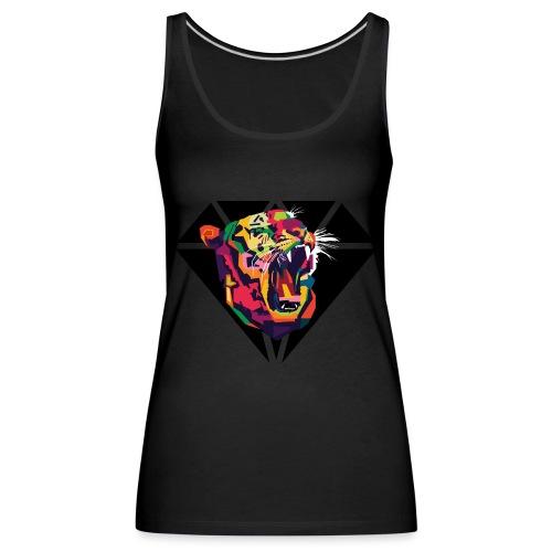 Tiger Hipster Design - Frauen Premium Tank Top